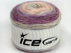 Lot of 3 x 100gr Skeins Ice Yarns CAKES ALPACA (25% Alpaca 25% Wool) Yarn Lilac Pink Purple Light Grey