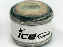 Lot of 3 x 100gr Skeins Ice Yarns CAKES ALPACA (25% Alpaca 25% Wool) Yarn Green Shades Light Grey Light Pink