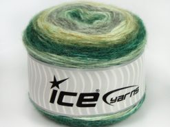 Lot of 3 x 100gr Skeins Ice Yarns CAKES ALPACA (25% Alpaca 25% Wool) Yarn Green Shades Grey Shades
