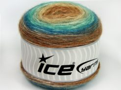 Lot of 3 x 100gr Skeins Ice Yarns CAKES ALPACA (25% Alpaca 25% Wool) Yarn Brown Shades Turquoise Shades