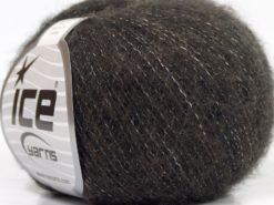 Lot of 10 Skeins Ice Yarns MERINO SUPERFINE COTTON (66% Extrafine Merino Wool 16% Cotton) Yarn Brown