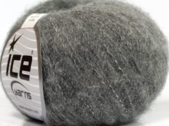 Lot of 10 Skeins Ice Yarns MERINO SUPERFINE COTTON (66% Extrafine Merino Wool 16% Cotton) Yarn Light Grey