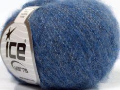 Lot of 10 Skeins Ice Yarns MERINO SUPERFINE COTTON (66% Extrafine Merino Wool 16% Cotton) Yarn Blue