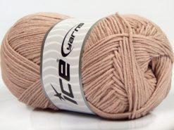 Lot of 4 x 100gr Skeins Ice Yarns LORENA (50% Cotton) Yarn Antique Pink