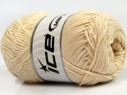 Lot of 4 x 100gr Skeins Ice Yarns NATURAL COTTON (100% Cotton) Yarn Cream