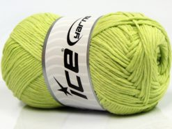 Lot of 4 x 100gr Skeins Ice Yarns NATURAL COTTON (100% Cotton) Yarn Light Green