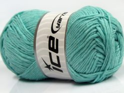 Lot of 4 x 100gr Skeins Ice Yarns NATURAL COTTON (100% Cotton) Yarn Mint Green