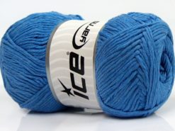 Lot of 4 x 100gr Skeins Ice Yarns NATURAL COTTON (100% Cotton) Yarn Blue