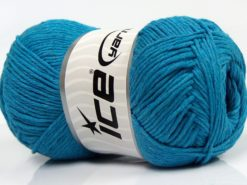 Lot of 4 x 100gr Skeins Ice Yarns NATURAL COTTON (100% Cotton) Yarn Turquoise