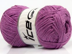 Lot of 4 x 100gr Skeins Ice Yarns NATURAL COTTON (100% Cotton) Yarn Orchid