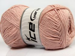 Lot of 4 x 100gr Skeins Ice Yarns NATURAL COTTON (100% Cotton) Yarn Powder Pink