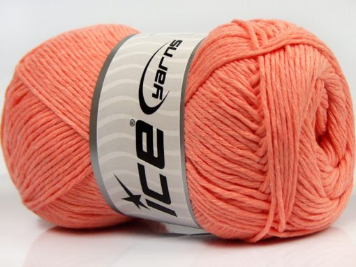 Lot of 4 x 100gr Skeins Ice Yarns NATURAL COTTON (100% Cotton) Yarn Salmon
