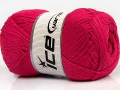 Lot of 4 x 100gr Skeins Ice Yarns NATURAL COTTON (100% Cotton) Yarn Fuchsia
