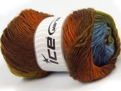 Lot of 4 x 100gr Skeins Ice Yarns SALE WINTER Yarn Brown Shades Green Shades Blue Shades