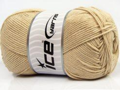 Lot of 4 x 100gr Skeins Ice Yarns LORENA (50% Cotton) Yarn Light Beige