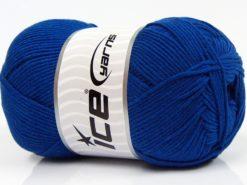 Lot of 4 x 100gr Skeins Ice Yarns LORENA (50% Cotton) Yarn Saxe Blue