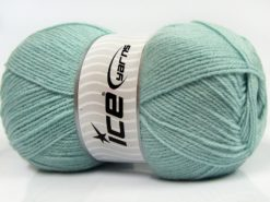 Lot of 4 x 100gr Skeins Ice Yarns SUPER BABY Hand Knitting Yarn Water Green