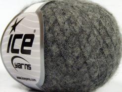 Lot of 10 Skeins Ice Yarns CARESS BABY ALPACA (30% Baby Alpaca 31% Extrafine Merino Wool) Yarn Dark Grey