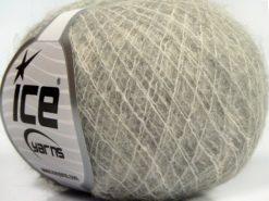 Lot of 10 Skeins Ice Yarns CARESS BABY ALPACA (30% Baby Alpaca 31% Extrafine Merino Wool) Yarn Light Grey