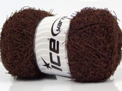 Lot of 4 x 100gr Skeins Ice Yarns SCRUBBER TWIST Hand Knitting Yarn Dark Brown