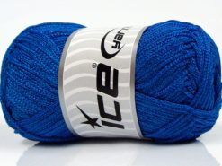 Lot of 4 x 100gr Skeins Ice Yarns MACRAME CORD Hand Knitting Yarn Royal Blue