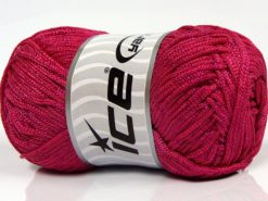 Lot of 4 x 100gr Skeins Ice Yarns MACRAME CORD Hand Knitting Yarn Fuchsia