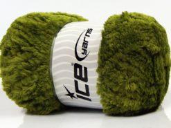 Lot of 4 x 100gr Skeins Ice Yarns PANDA (100% MicroFiber) Yarn Military Green