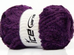 Lot of 4 x 100gr Skeins Ice Yarns PANDA (100% MicroFiber) Yarn Dark Purple