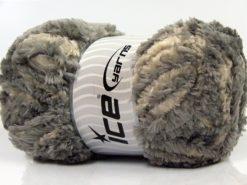 Lot of 4 x 100gr Skeins Ice Yarns PANDA DUO (100% MicroFiber) Yarn Ecru Grey