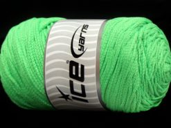 250 gr ICE YARNS MACRAME COTTON (100% Cotton) Hand Knitting Yarn Light Green