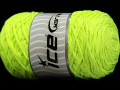 250 gr ICE YARNS MACRAME COTTON (100% Cotton) Hand Knitting Yarn Neon Green