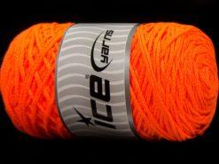 250 gr ICE YARNS MACRAME COTTON (100% Cotton) Hand Knitting Yarn Neon Orange