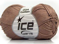 Lot of 6 Skeins Ice Yarns GIZA COTTON Hand Knitting Yarn Camel