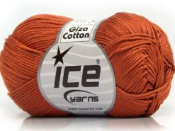 Lot of 6 Skeins Ice Yarns GIZA COTTON Hand Knitting Yarn Copper