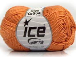 Lot of 6 Skeins Ice Yarns GIZA COTTON Hand Knitting Yarn Light Orange