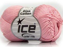 Lot of 6 Skeins Ice Yarns GIZA COTTON Hand Knitting Yarn Baby Pink