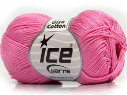 Lot of 6 Skeins Ice Yarns GIZA COTTON (100% Mercerised Giza Cotton) Yarn Pink
