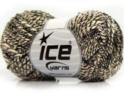 Lot of 8 Skeins Ice Yarns SALE SUMMER (55% Cotton) Yarn Black Ecru