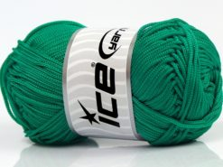 Lot of 4 x 100gr Skeins Ice Yarns MACRAME CORD Yarn Emerald Green
