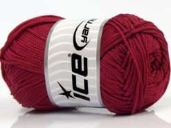 Lot of 4 x 100gr Skeins Ice Yarns MACRAME CORD Hand Knitting Yarn Burgundy