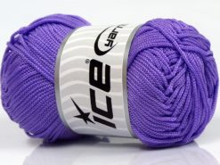 Lot of 4 x 100gr Skeins Ice Yarns MACRAME CORD Hand Knitting Yarn Lilac