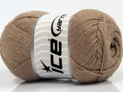 Lot of 4 x 100gr Skeins Ice Yarns NATURAL COTTON AIR (100% Cotton) Yarn Light Camel