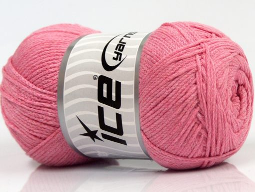 Lot of 4 x 100gr Skeins Ice Yarns NATURAL COTTON AIR (100% Cotton) Yarn Light Pink