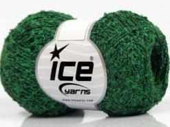 Lot of 8 Skeins Ice Yarns SALE METALLIC (70% Cotton) Yarn Green Black