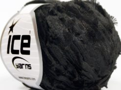 Lot of 8 Skeins Ice Yarns SALE RIBBON Hand Knitting Yarn Black