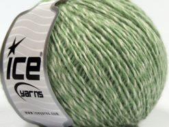 Lot of 8 Skeins Ice Yarns SALE WINTER (14% Wool) Yarn Cream Light Green