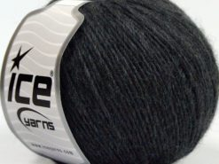 Lot of 8 Skeins Ice Yarns SALE WINTER (30% Wool) Hand Knitting Yarn Dark Grey