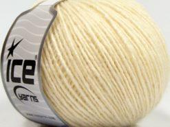 Lot of 8 Skeins Ice Yarns SALE WINTER (30% Wool) Hand Knitting Yarn Cream