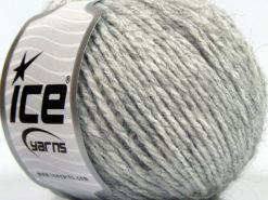 Lot of 8 Skeins Ice Yarns SALE PLAIN Hand Knitting Yarn Grey Melange