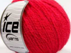 Lot of 8 Skeins Ice Yarns MACARON (3% Elastan) Hand Knitting Yarn Fuchsia